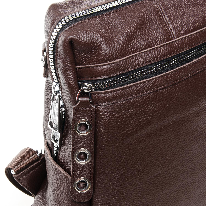 Сумка Женская Рюкзак кожа ALEX RAI 7-02 8781-9 coffee - фото 3