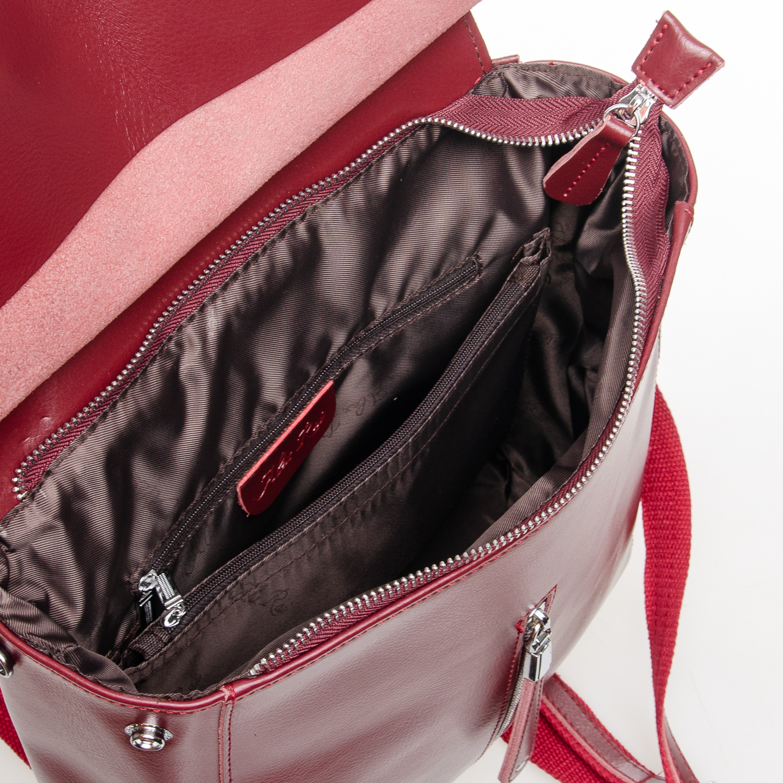 Сумка Женская Рюкзак кожа ALEX RAI 7-02 3206 red-wine - фото 4