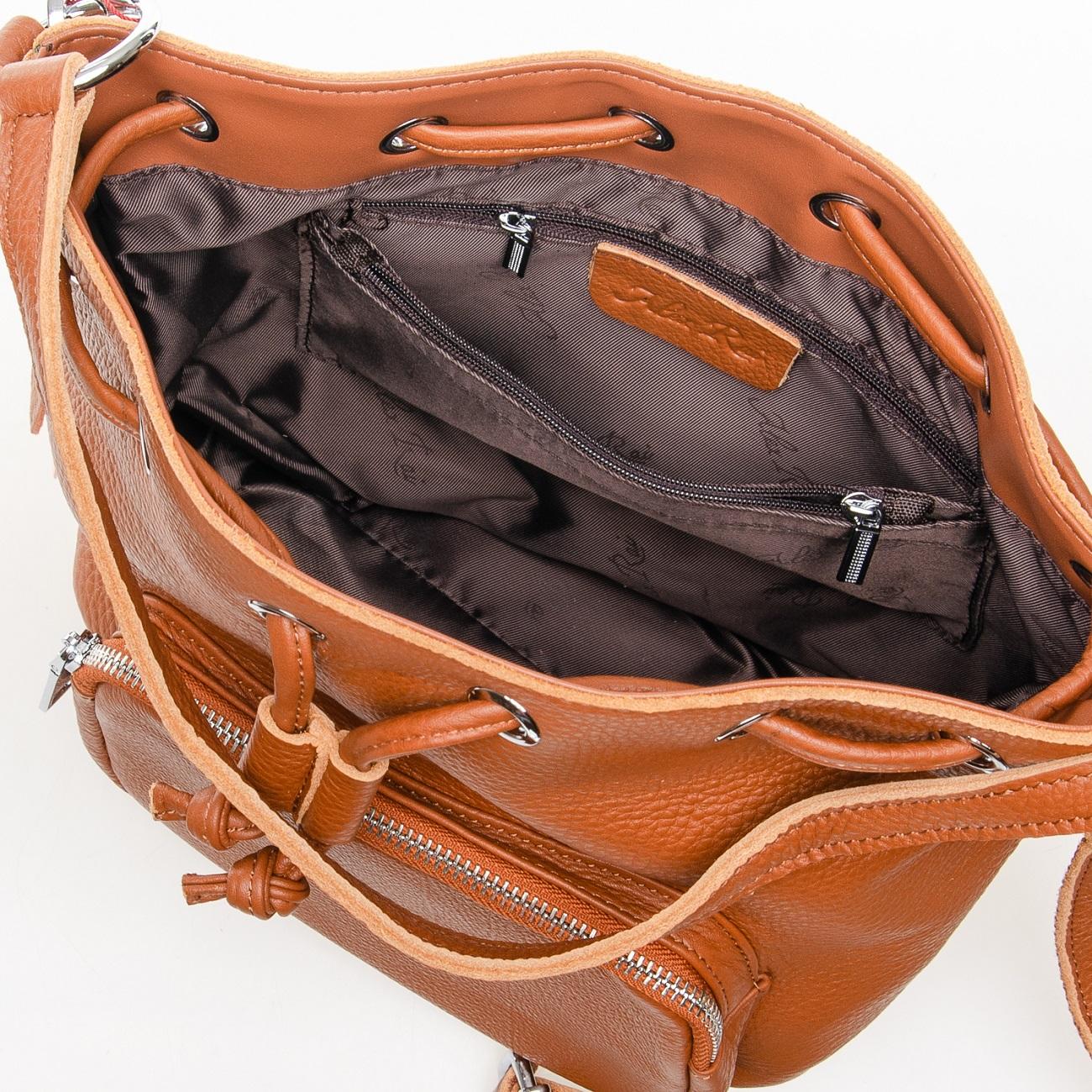 Сумка Женская Классическая кожа ALEX RAI 7-01 7110 khaki - фото 5