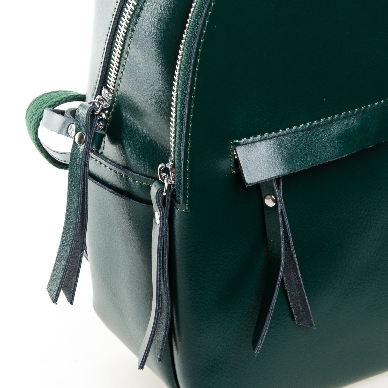 Сумка Женская Рюкзак кожа ALEX RAI 7-02 337 green - фото 3