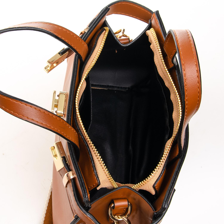 Сумка Женская Классическая иск-кожа FASHION 7-03 8222 brown - фото 5