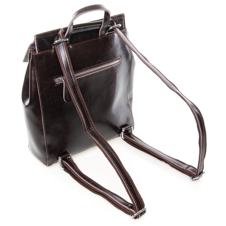 Сумка Женская Рюкзак кожа ALEX RAI 7-02 3206 brown - фото 3
