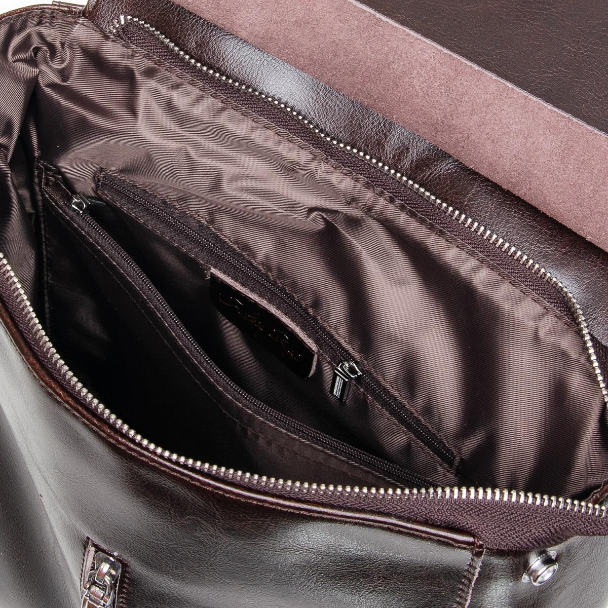 Сумка Женская Рюкзак кожа ALEX RAI 7-02 3206 brown - фото 5
