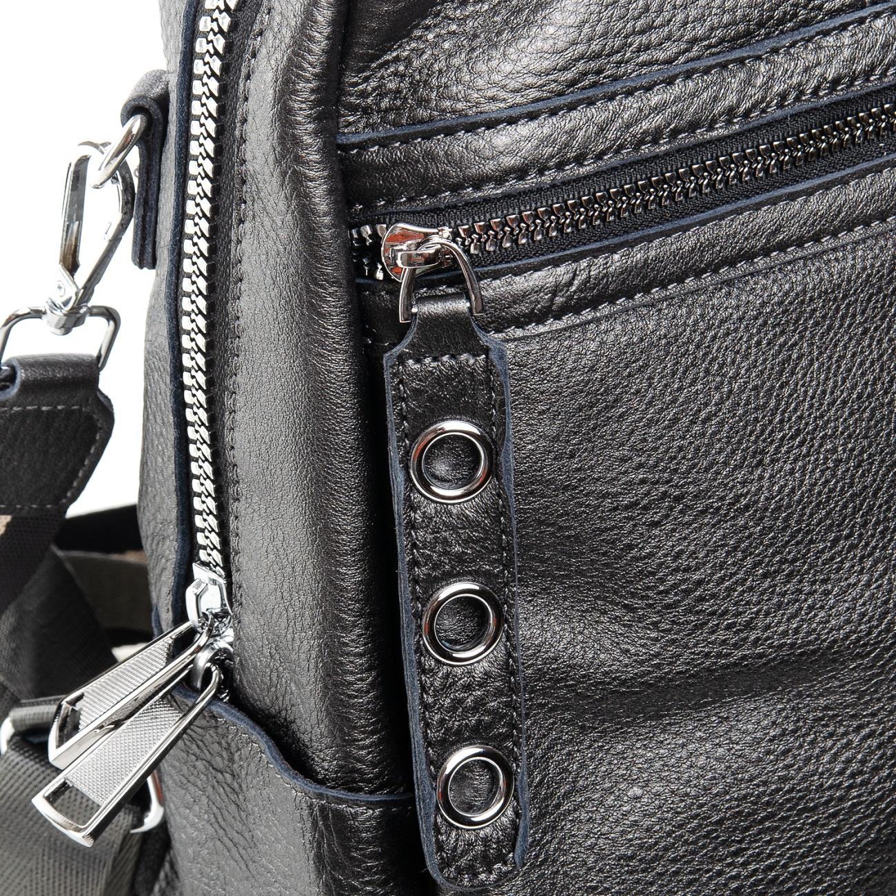 Сумка Женская Рюкзак кожа ALEX RAI 7-02 8781-9 silver-grey - фото 5