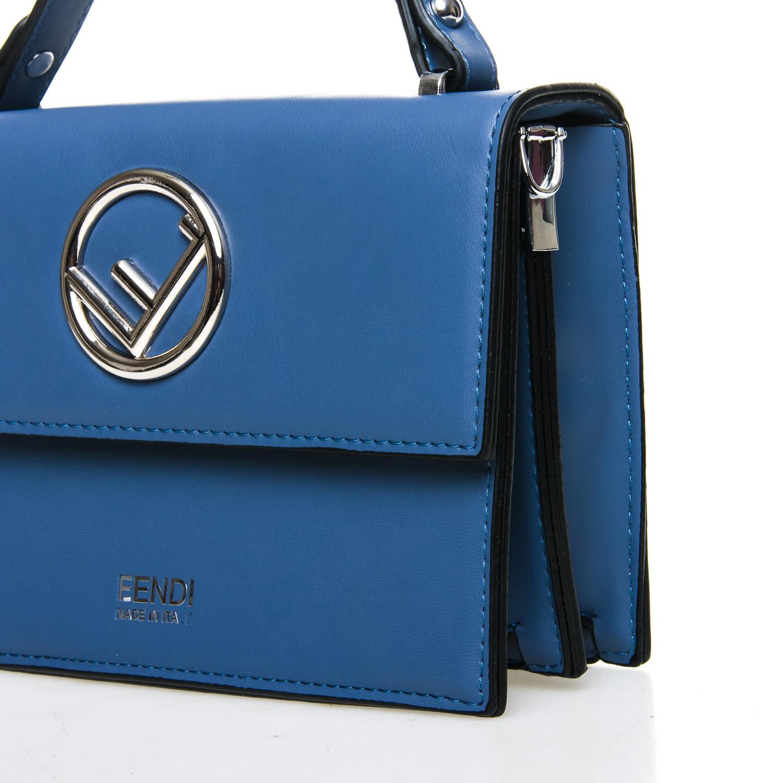 Сумка Женская Классическая иск-кожа FASHION 7-04 88025 blue - фото 3
