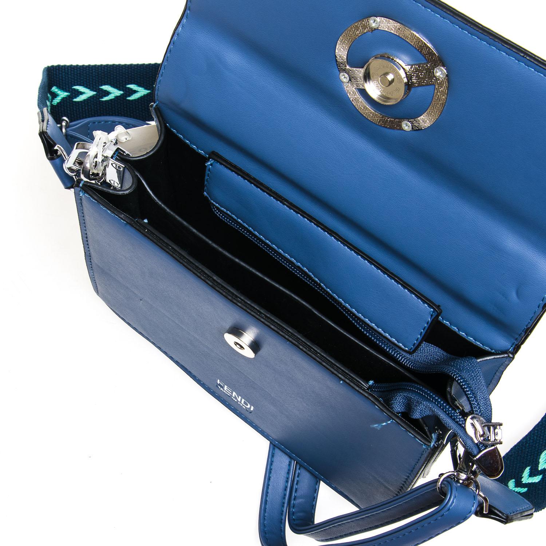 Сумка Женская Классическая иск-кожа FASHION 7-04 88025 blue - фото 5