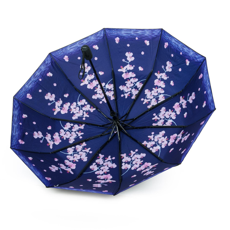 Зонт Полуавтомат Женский полиэстер 516-2 цветы - фото 3