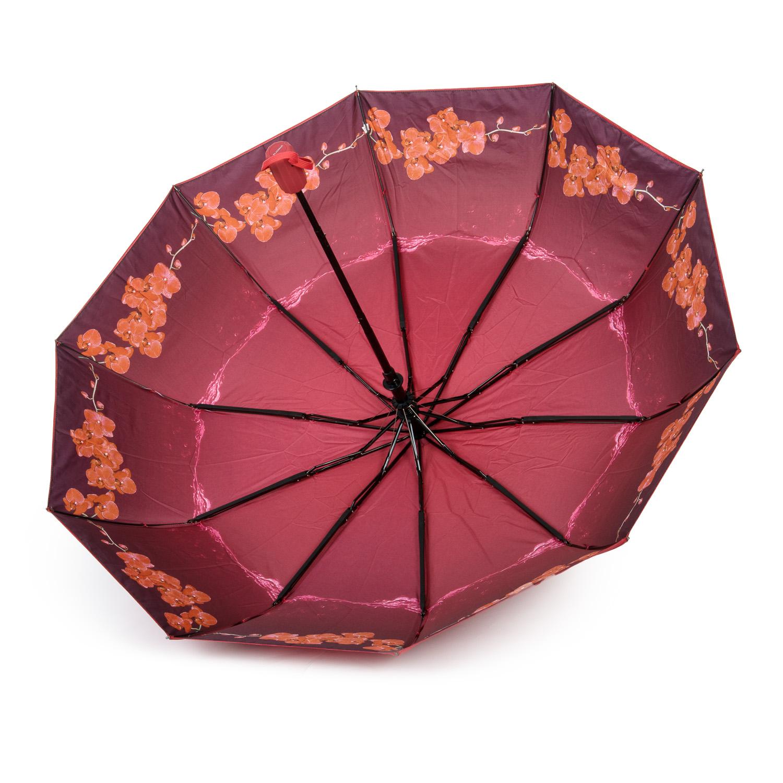 Зонт Полуавтомат Женский полиэстер 516-3 цветы - фото 3