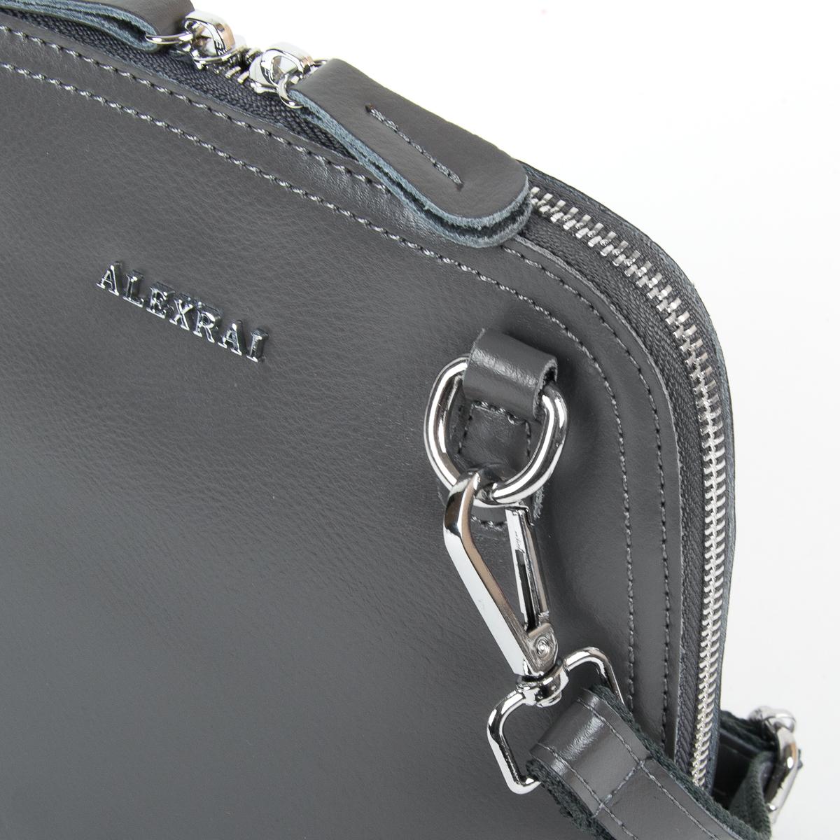 Сумка Женская Клатч кожа ALEX RAI 9-01 8803 grey - фото 3