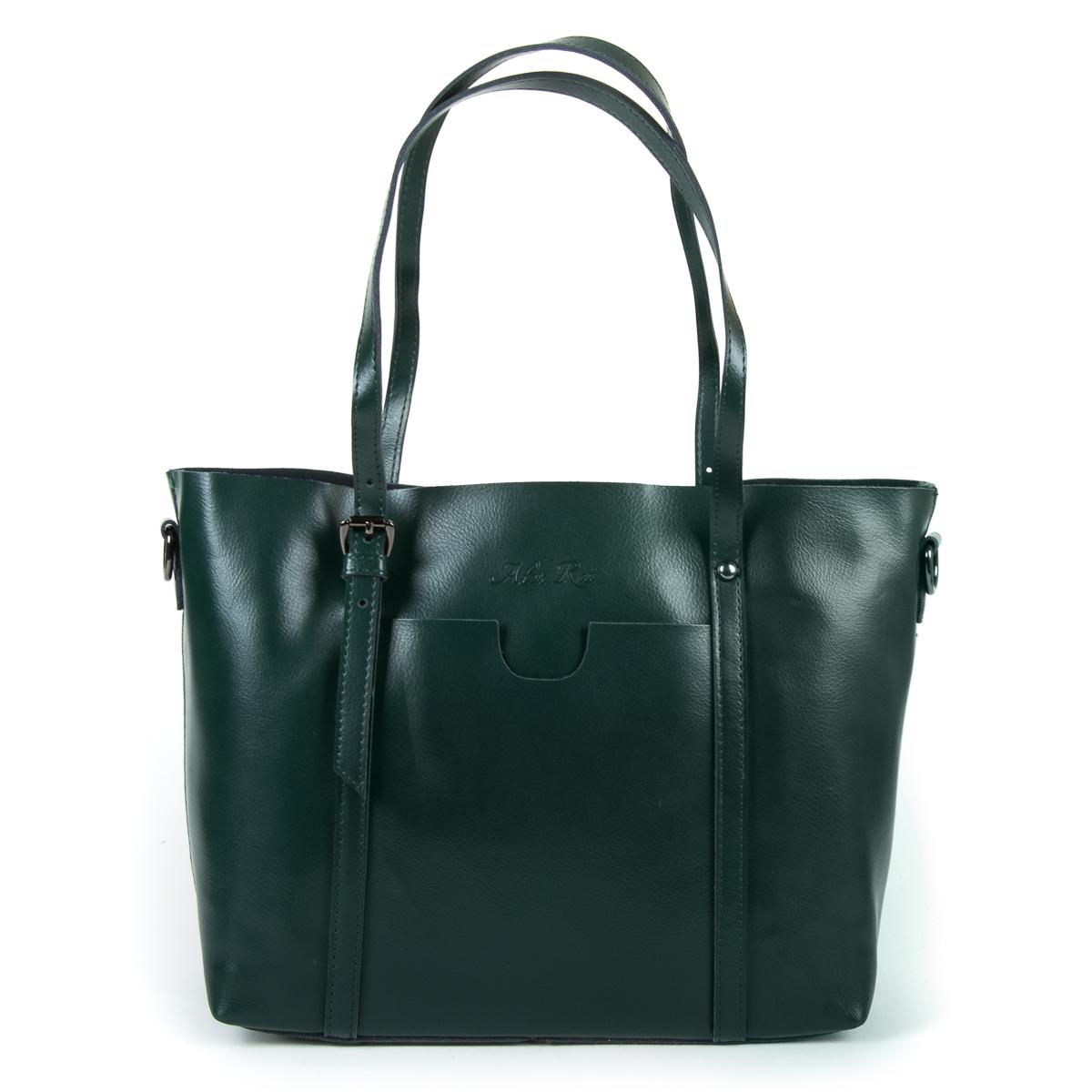 Сумка Женская Классическая кожа ALEX RAI 9-01 1535 green