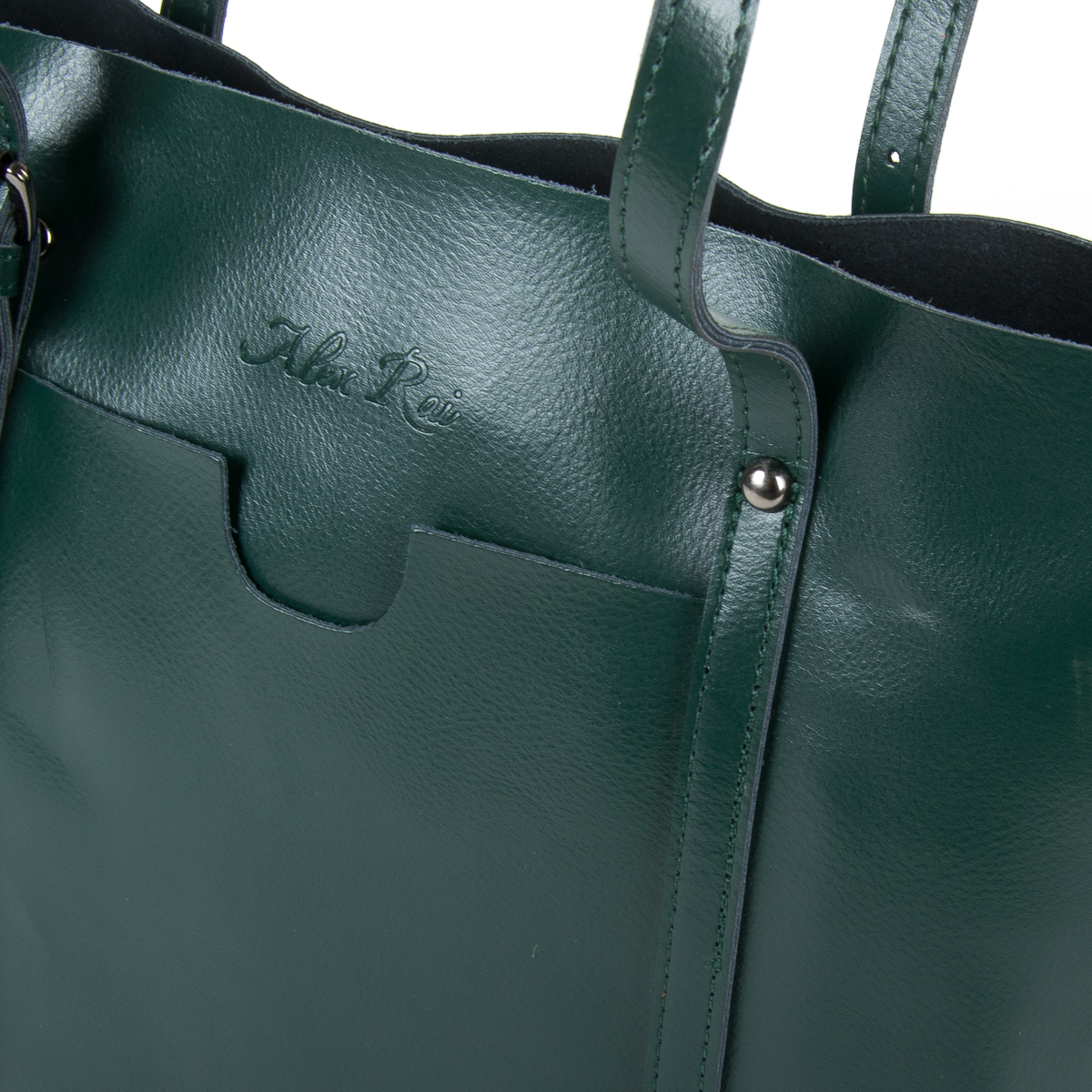 Сумка Женская Классическая кожа ALEX RAI 9-01 1535 green - фото 3