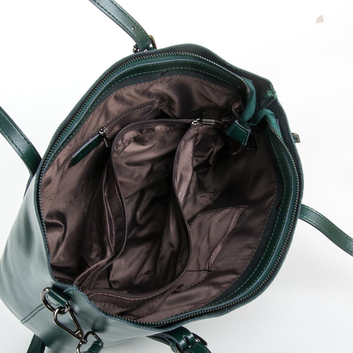 Сумка Женская Классическая кожа ALEX RAI 9-01 1535 green - фото 5