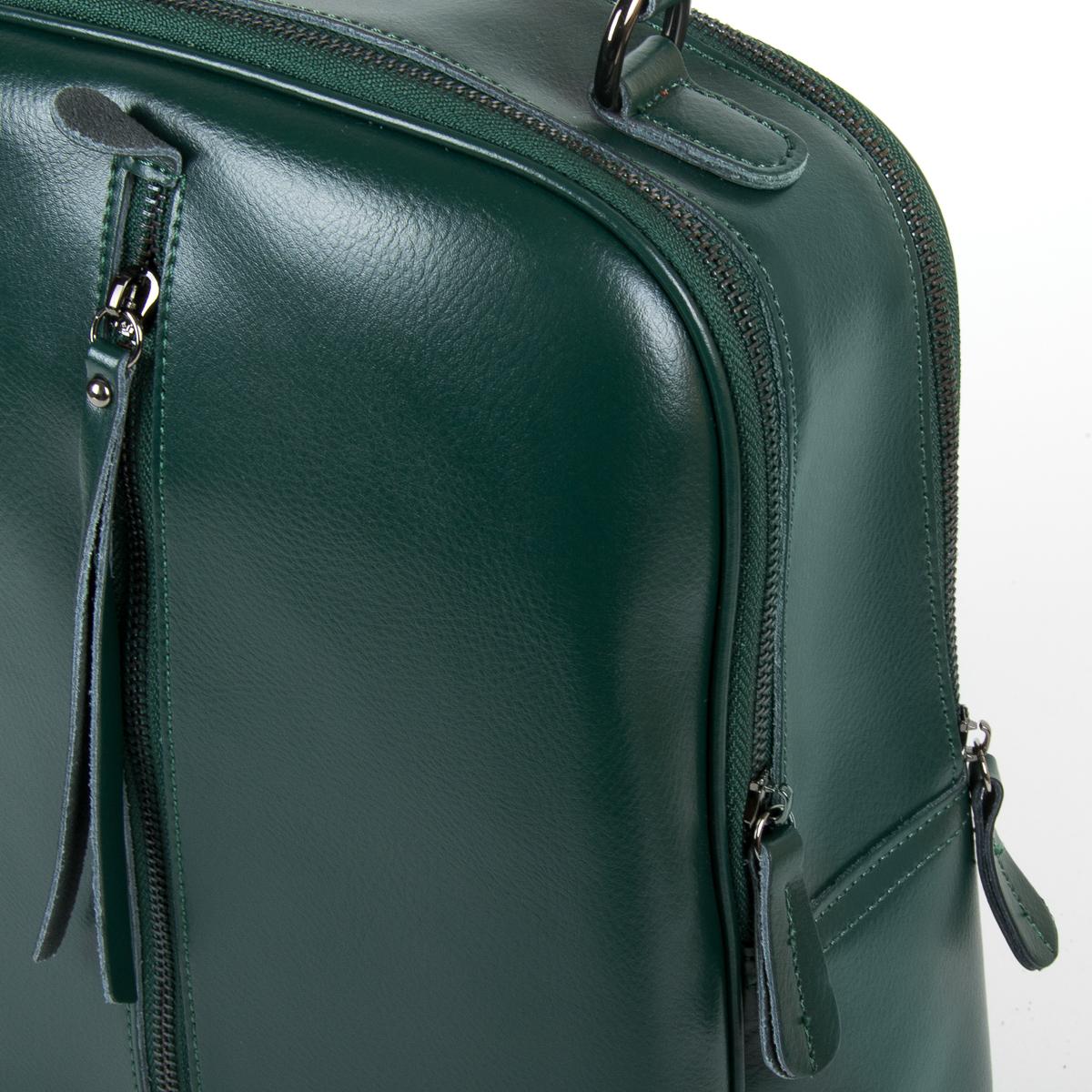 Сумка Женская Рюкзак кожа ALEX RAI 9-01 8694-3 green - фото 3
