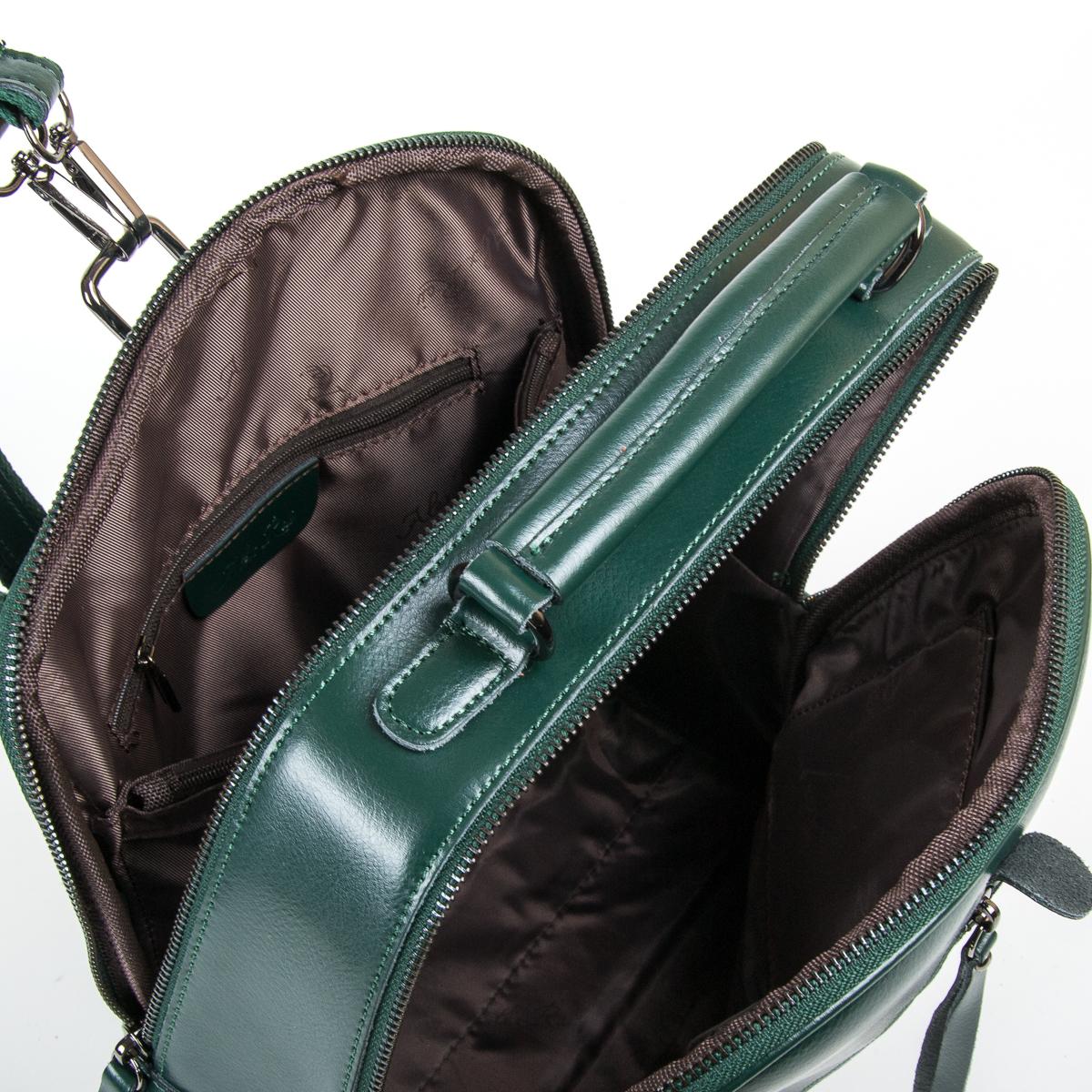 Сумка Женская Рюкзак кожа ALEX RAI 9-01 8694-3 green - фото 5