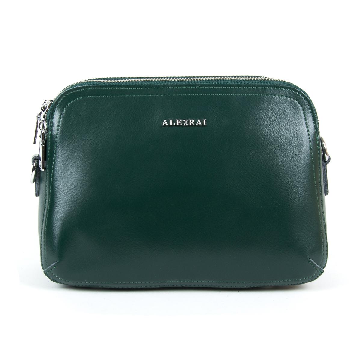 Сумка Женская Клатч кожа ALEX RAI 9-01 8725 green