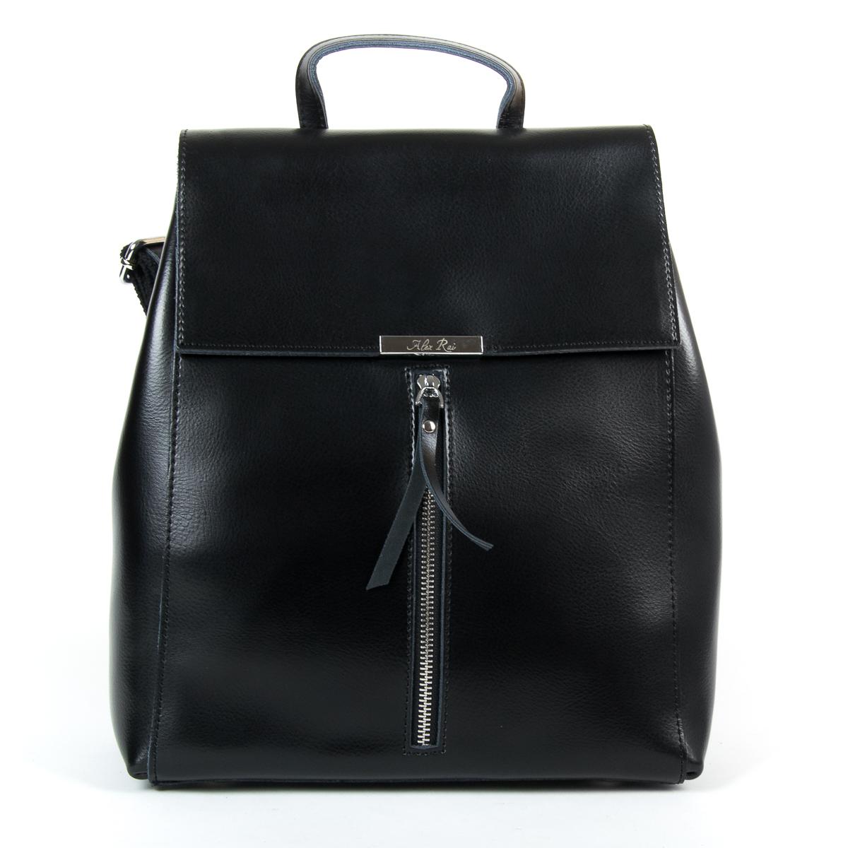 Сумка Женская Рюкзак кожа ALEX RAI 9-01 373 black