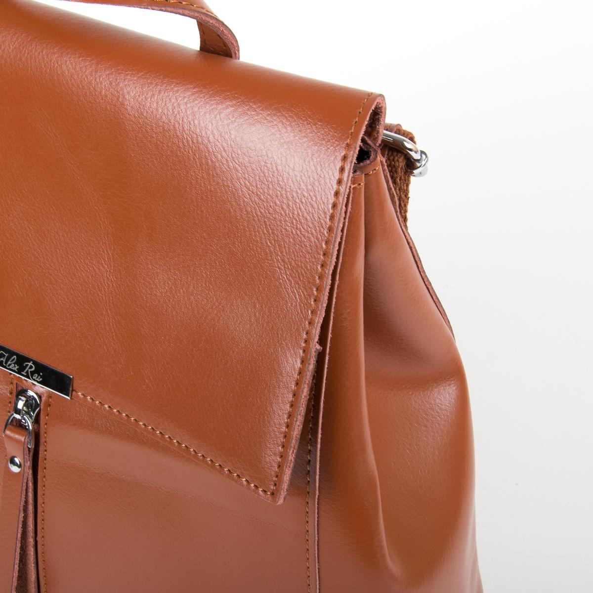 Сумка Женская Рюкзак кожа ALEX RAI 9-01 373 khaki - фото 3