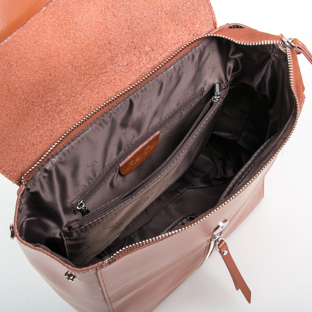 Сумка Женская Рюкзак кожа ALEX RAI 9-01 373 khaki - фото 5