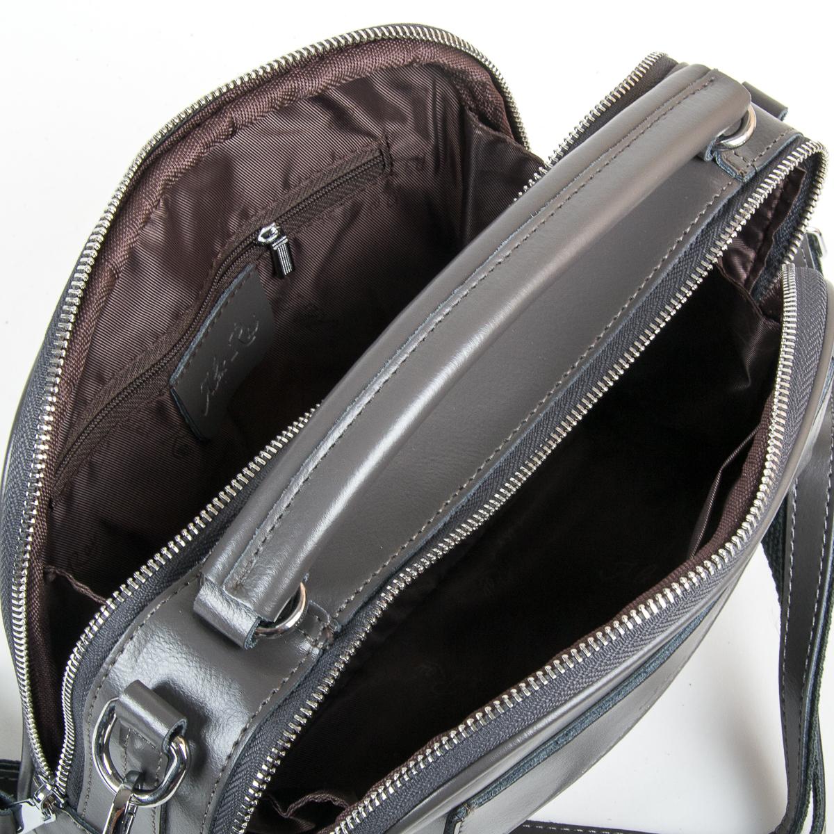 Сумка Женская Классическая кожа ALEX RAI 9-01 8545 grey - фото 5