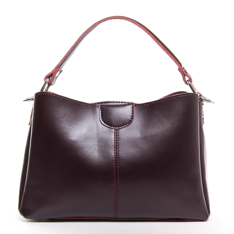 Сумка Женская Классическая кожа ALEX RAI 9-01 1383 burgundy