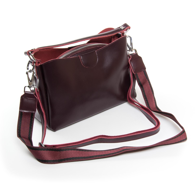 Сумка Женская Классическая кожа ALEX RAI 9-01 1383 burgundy - фото 4