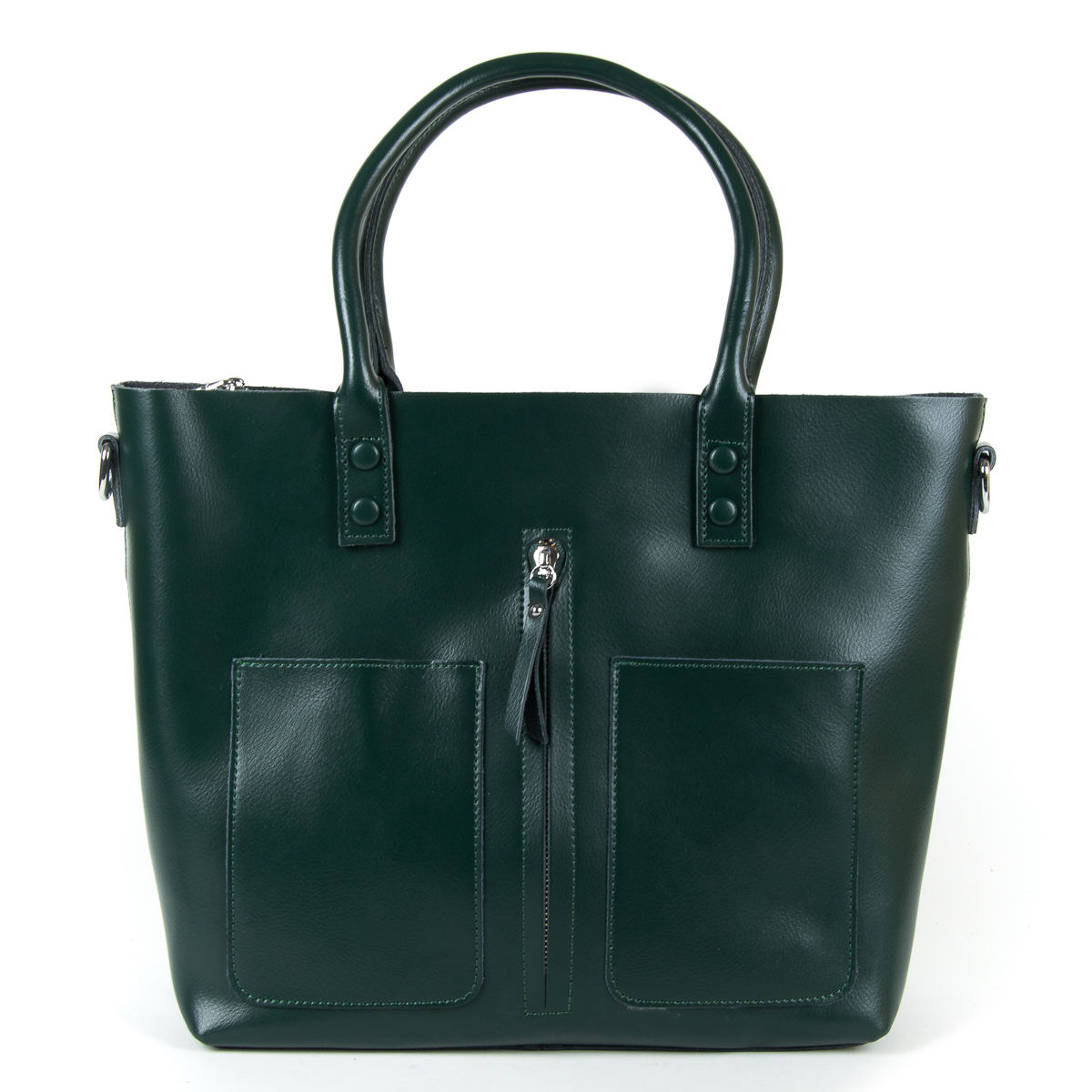 Сумка Женская Классическая кожа ALEX RAI 9-01 8776 dark-green