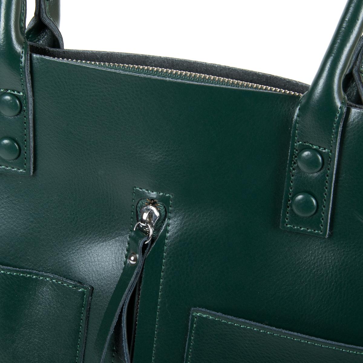 Сумка Женская Классическая кожа ALEX RAI 9-01 8776 dark-green - фото 3