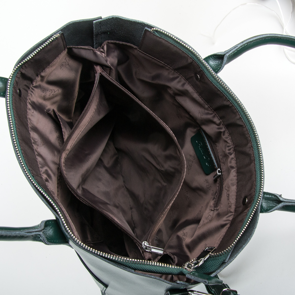 Сумка Женская Классическая кожа ALEX RAI 9-01 8776 dark-green - фото 5