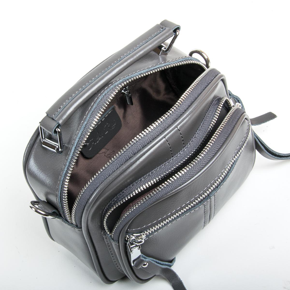 Сумка Женская Клатч кожа ALEX RAI 9-01 8802 grey - фото 5