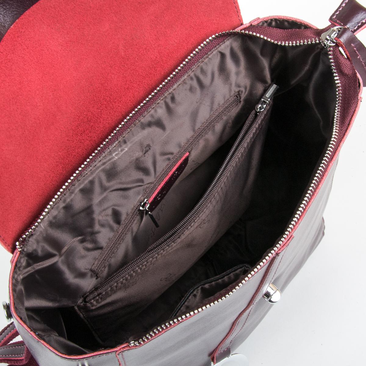 Сумка Женская Рюкзак кожа ALEX RAI 9-01 360 wine-red - фото 5
