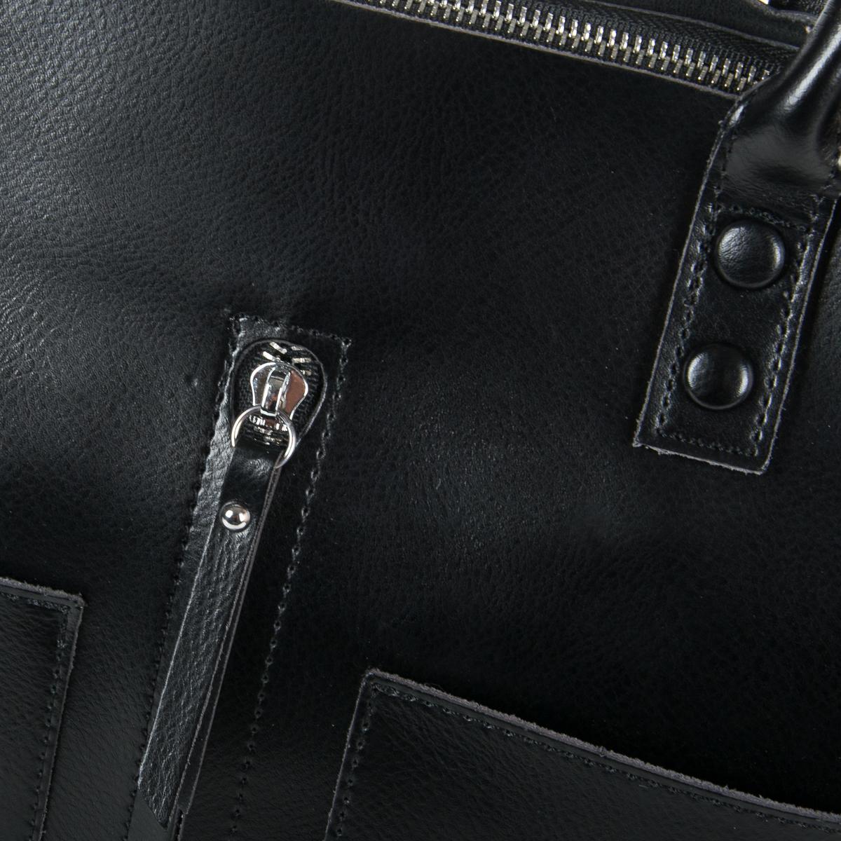 Сумка Женская Классическая кожа ALEX RAI 9-01 8776 black - фото 3