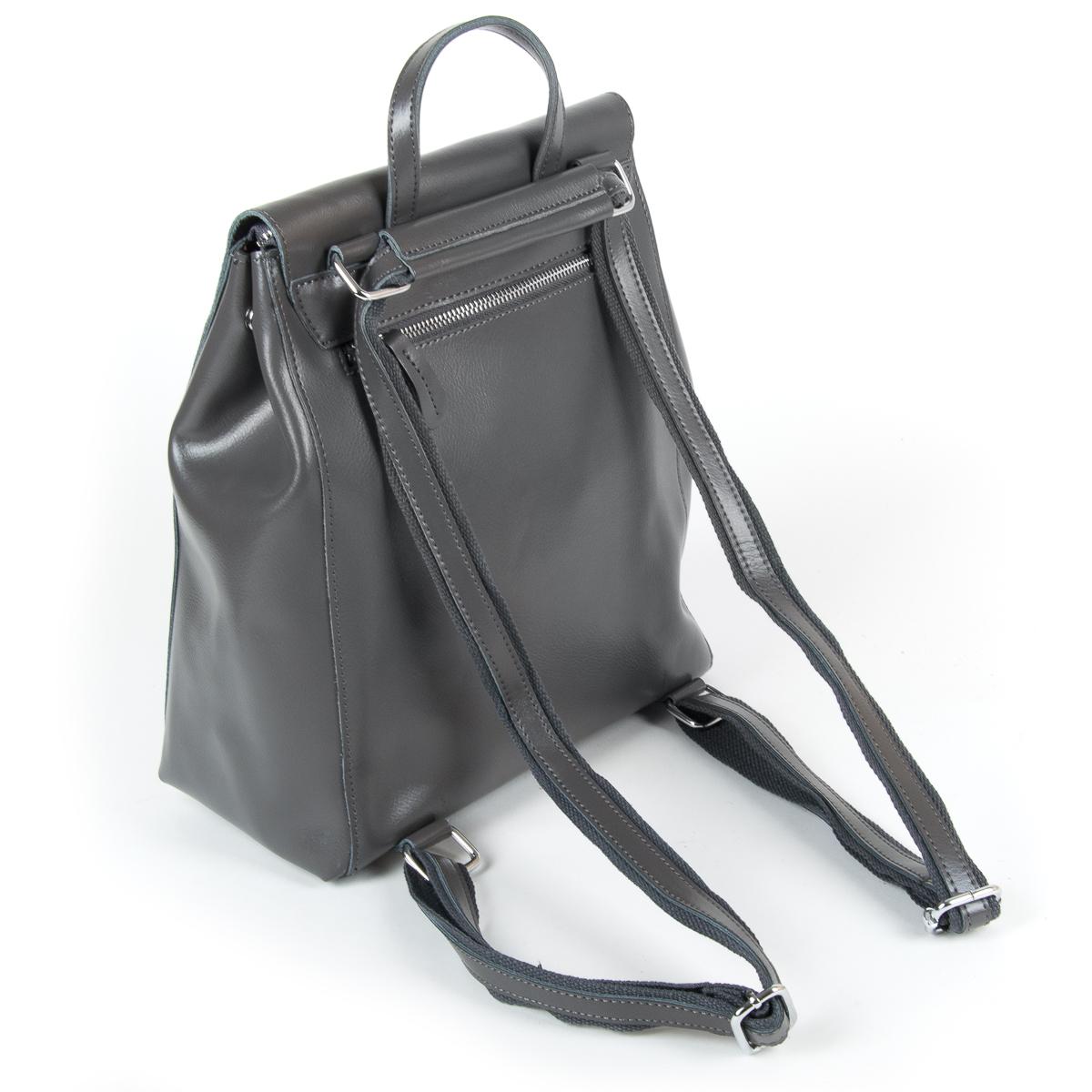 Сумка Женская Рюкзак кожа ALEX RAI 9-01 360 grey - фото 4