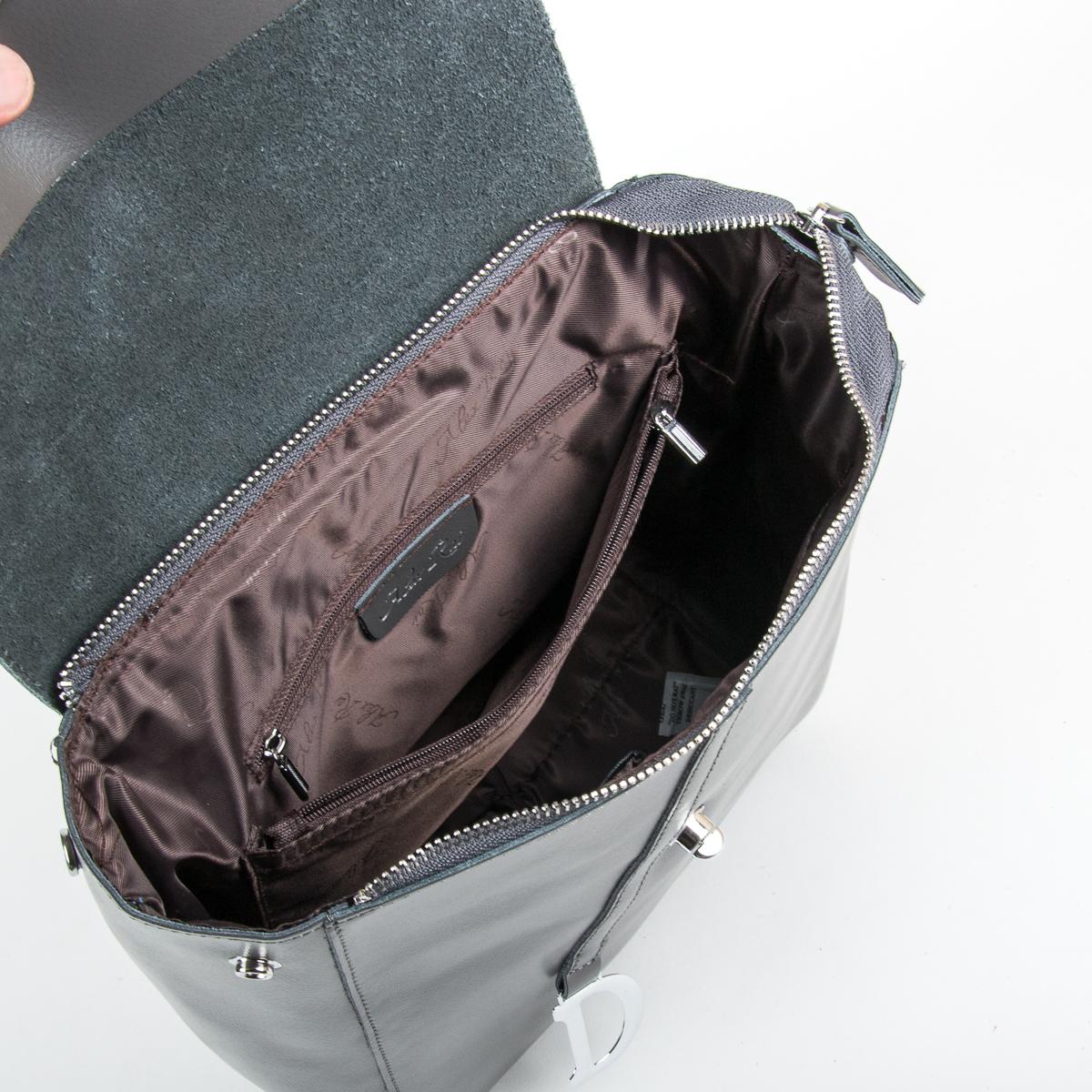 Сумка Женская Рюкзак кожа ALEX RAI 9-01 360 grey - фото 5