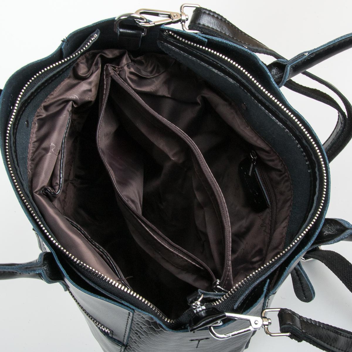 Сумка Женская Классическая кожа ALEX RAI 9-01 8713-12 black - фото 5