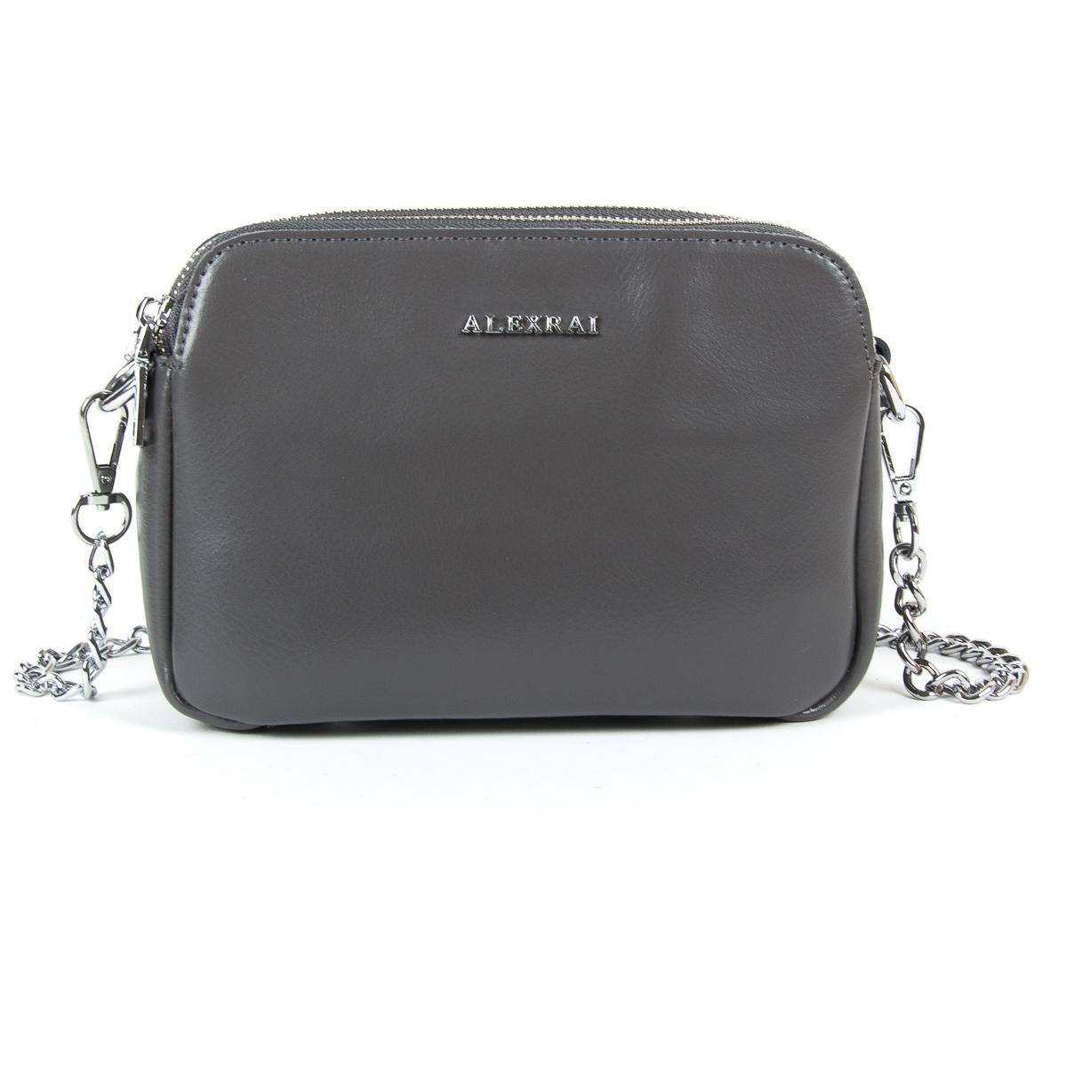 Сумка Женская Клатч кожа ALEX RAI 9-01 8701 grey
