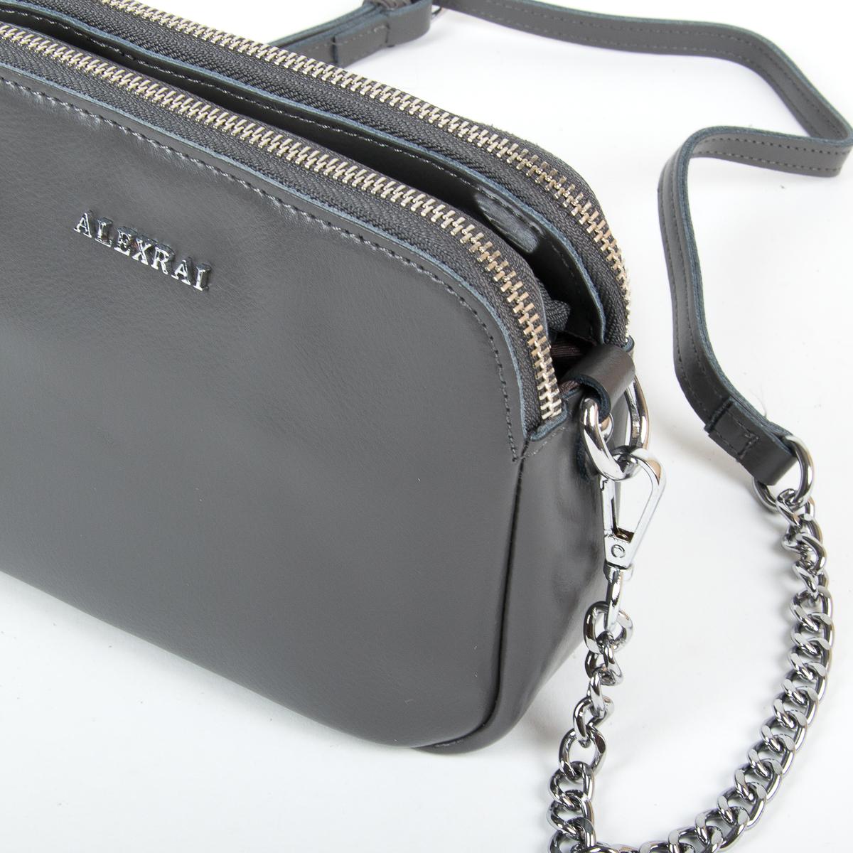 Сумка Женская Клатч кожа ALEX RAI 9-01 8701 grey - фото 3