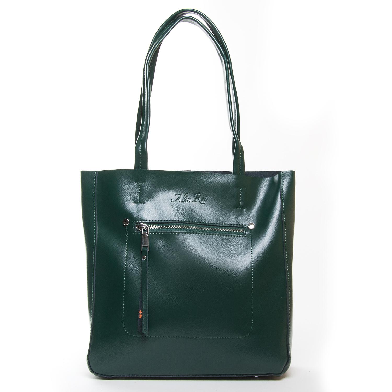 Сумка Женская Классическая кожа ALEX RAI 9-01 8773 green