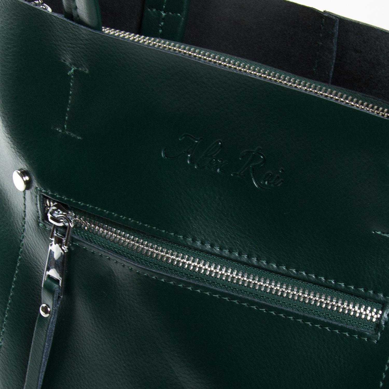 Сумка Женская Классическая кожа ALEX RAI 9-01 8773 green - фото 3