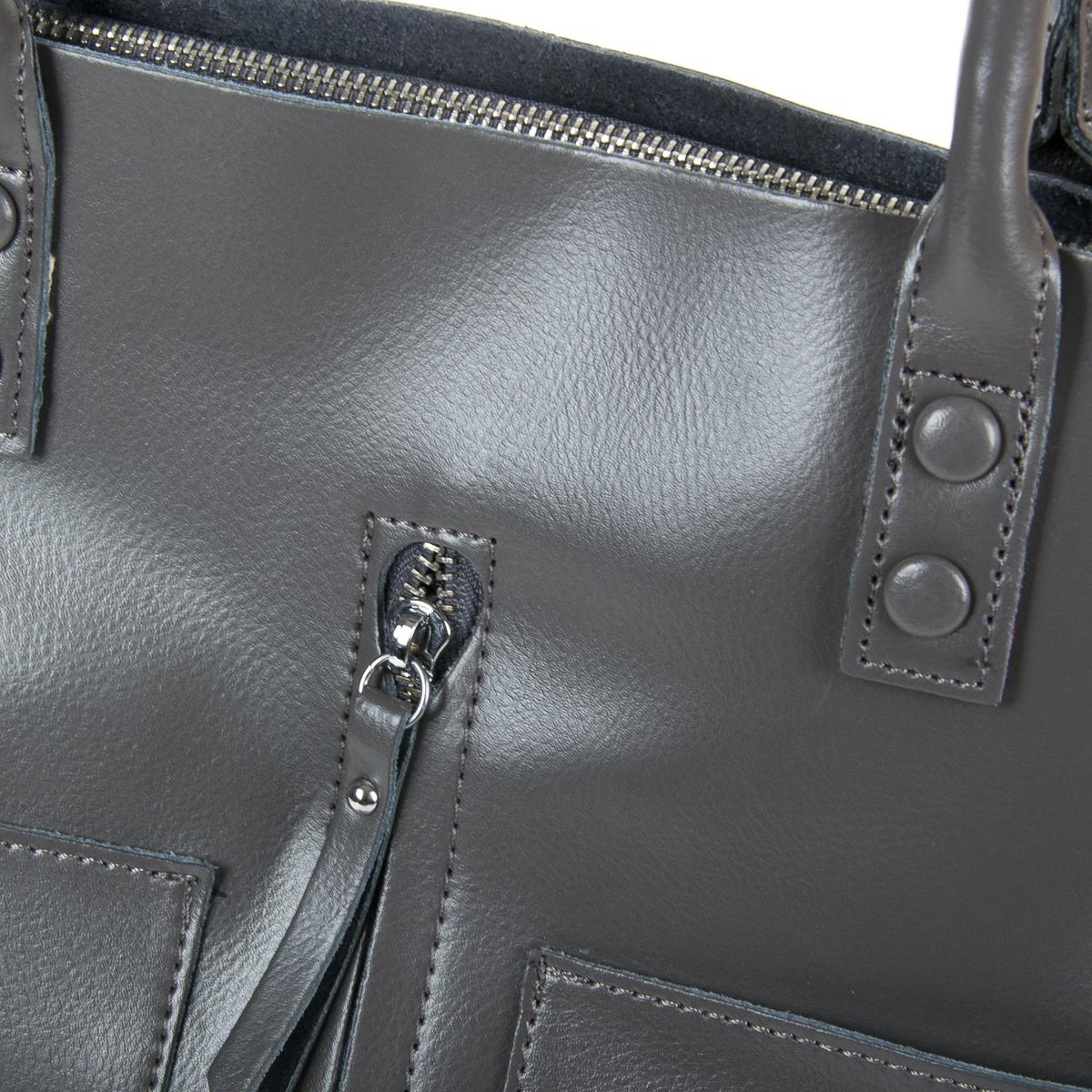 Сумка Женская Классическая кожа ALEX RAI 9-01 8776 dark-grey - фото 3