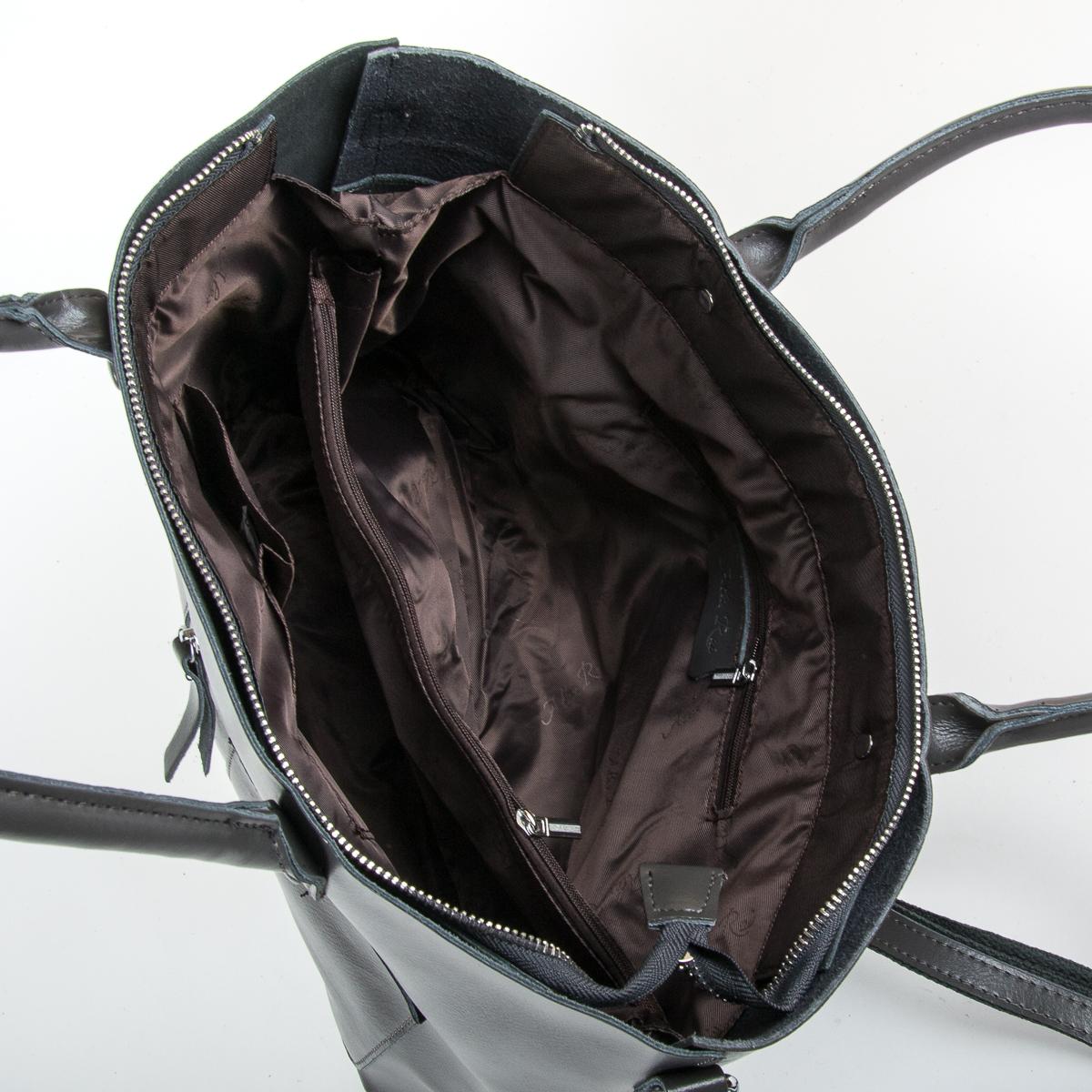 Сумка Женская Классическая кожа ALEX RAI 9-01 8776 dark-grey - фото 5