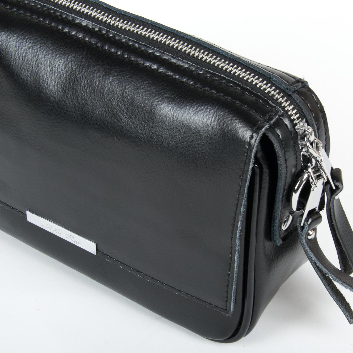 Сумка Женская Клатч кожа ALEX RAI 9-01 2227 black - фото 3