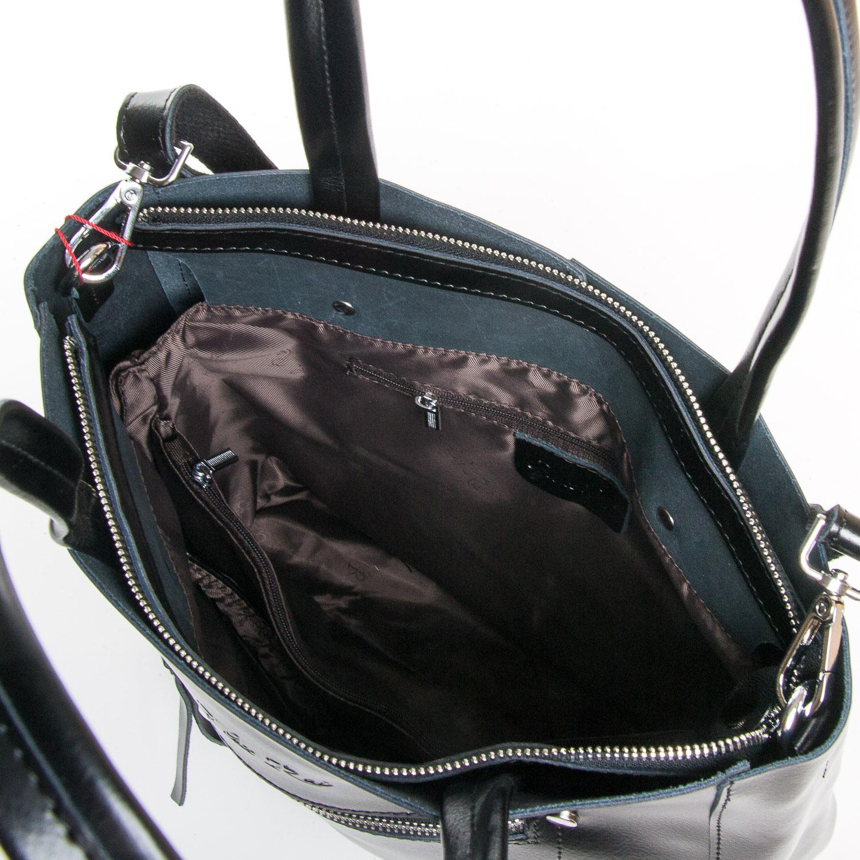 Сумка Женская Классическая кожа ALEX RAI 9-01 8773 black - фото 5