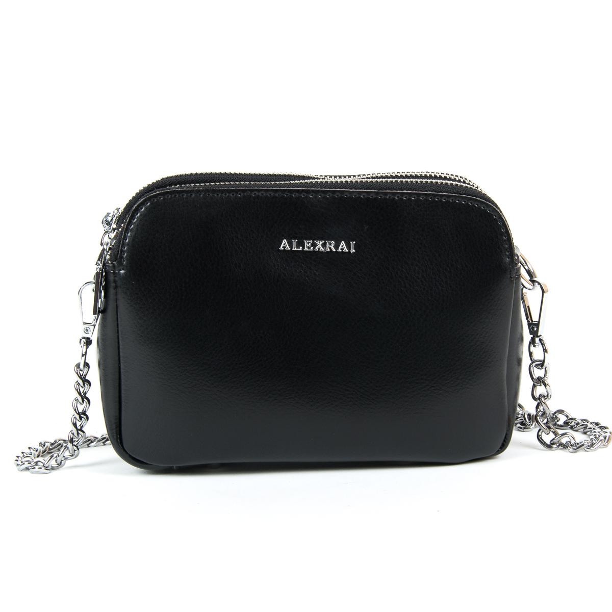 Сумка Женская Клатч кожа ALEX RAI 9-01 8701 black