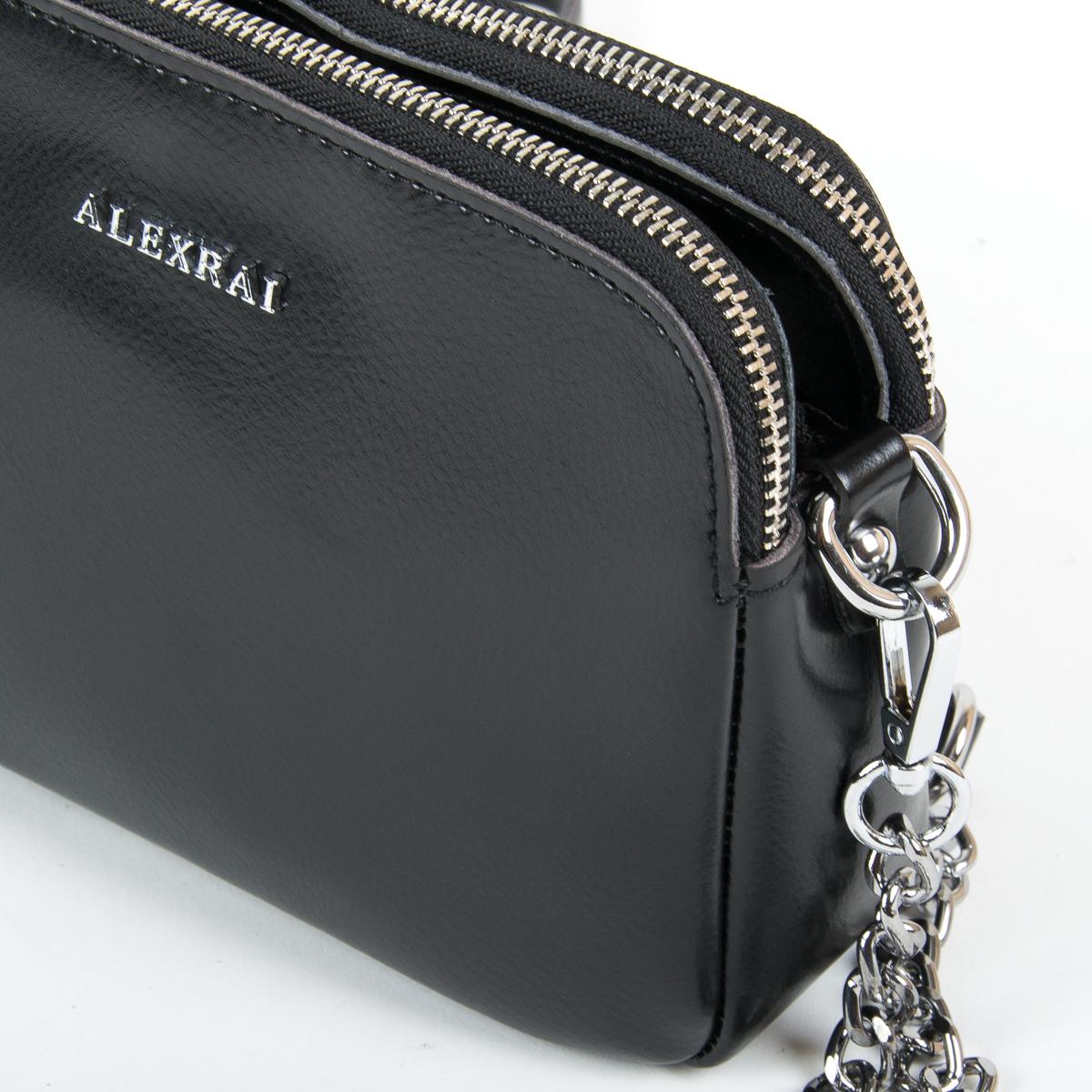 Сумка Женская Клатч кожа ALEX RAI 9-01 8701 black - фото 3