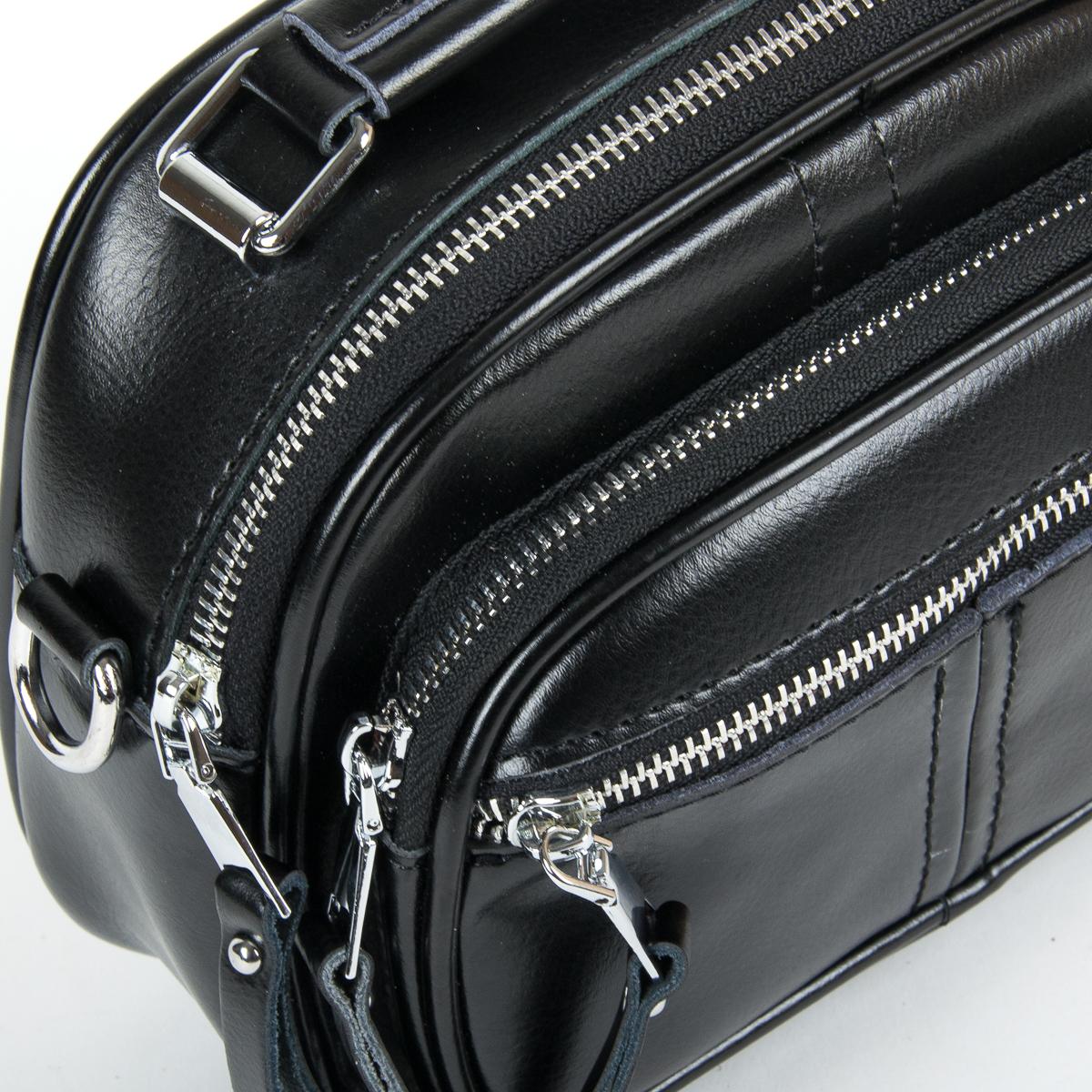 Сумка Женская Клатч кожа ALEX RAI 9-01 8802 black - фото 3