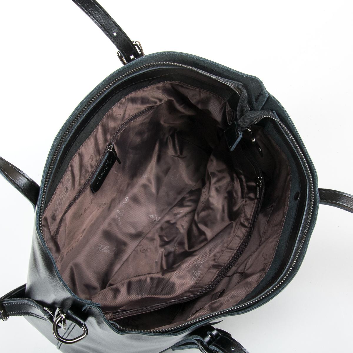 Сумка Женская Классическая кожа ALEX RAI 9-01 1535 black - фото 5