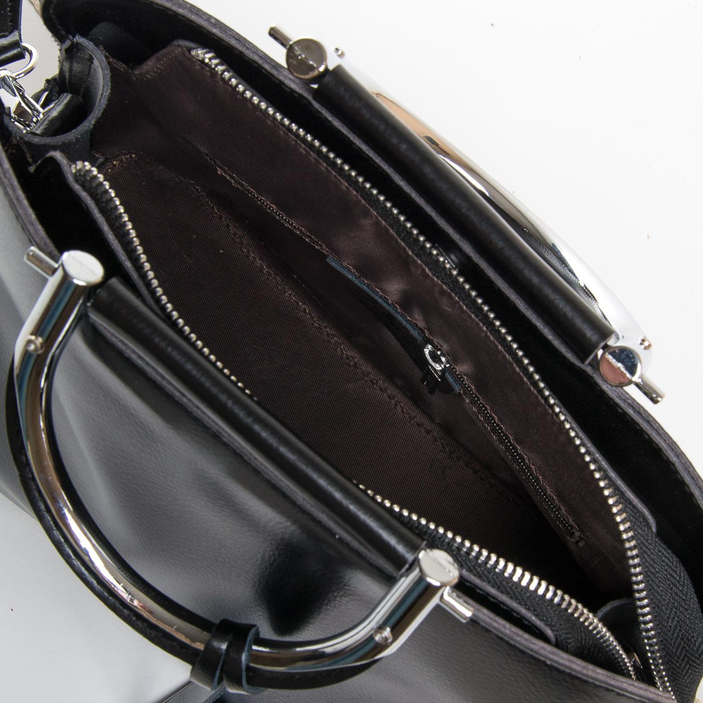 Сумка Женская Классическая кожа ALEX RAI 9-01 8765 black - фото 5