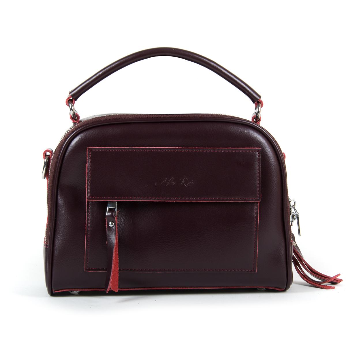 Сумка Женская Классическая кожа ALEX RAI 9-01 8545 burgundy