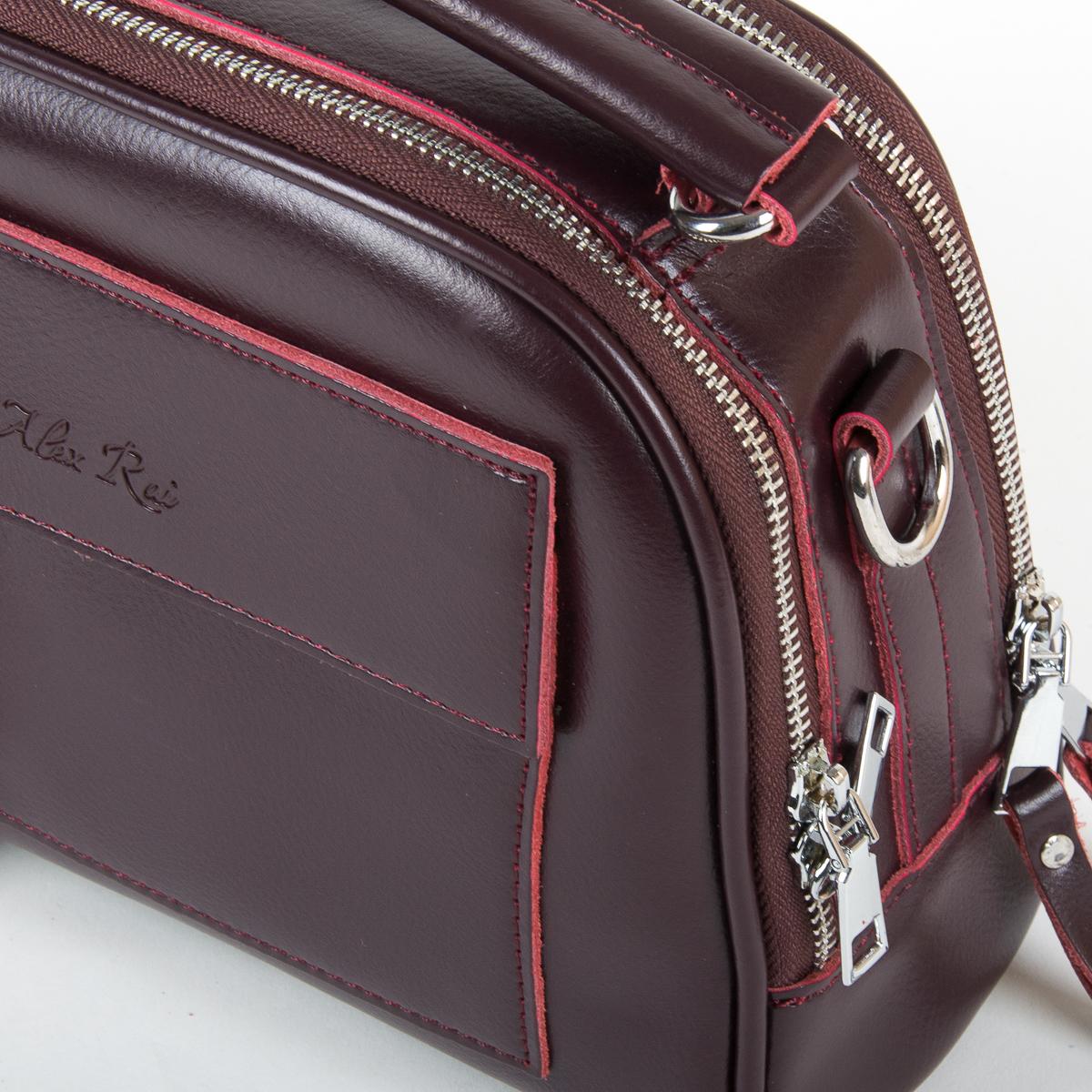 Сумка Женская Классическая кожа ALEX RAI 9-01 8545 burgundy - фото 3