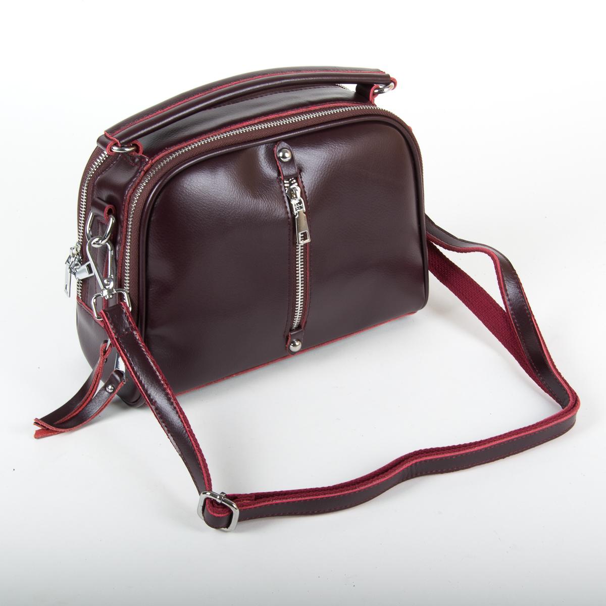 Сумка Женская Классическая кожа ALEX RAI 9-01 8545 burgundy - фото 4